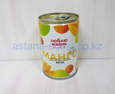 Фруктовое пюре из спелого манго 'Люблю жизнь' (без сахара) — 450 г