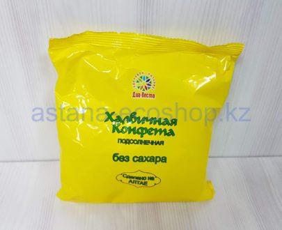 Конфета халвичная 'Подсолнечная', без сахара (ядро подсолнечника, патока, фруктоза, солодковый корень) — 200 г