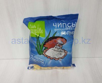 Чипсы амарантовые с солью (без глютена) — 90 г