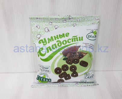 Печенье шоколадное из муки амаранта (без сахара, без глютена) — 160 г