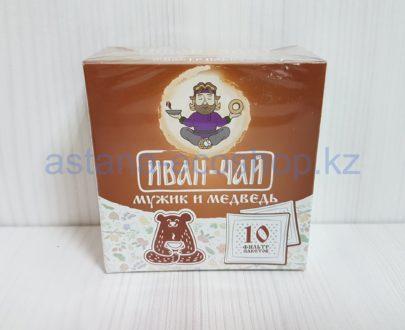Иван-чай 'Мужик и медведь', ручной сбор (рябина, черемуха, малина, смородина) — 10 пак.