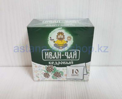 Иван-чай 'Кедровый', ручной сбор (с лепестками кедровой шишки) — 10 пак.