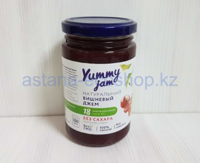 Натуральный вишневый джем (без глютена, без сахара, на основе стевии) — 350 г