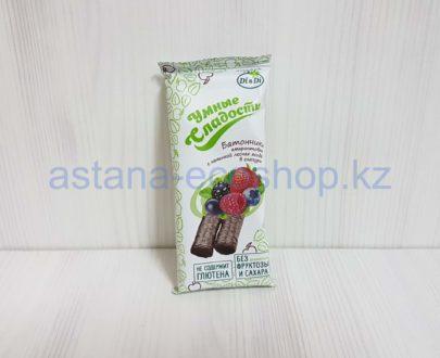 Батончики амарантовые лесная ягода в глазури (без сахара, без глютена) — 20 г