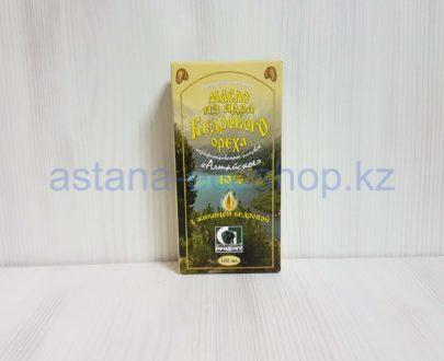Масло из ядра кедрового ореха с живицей кедровой 10 % (нерафинированное, холодный отжим) — 100 мл