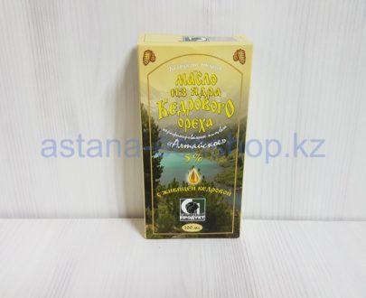 Масло из ядра кедрового ореха с живицей кедровой 5 % (нерафинированное, холодный отжим) — 100 мл