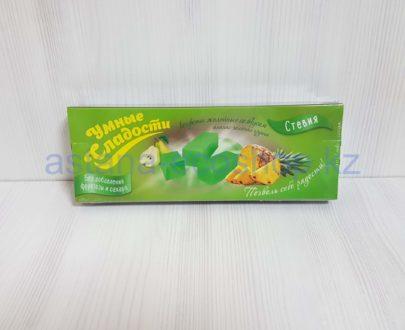 Конфеты желейные со стевией, ананас-зеленая груша (без сахара, без глютена) — 90 г