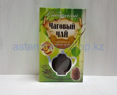 Чаговый чай 'Сибирский' с вытяжкой из кедровых орехов (без кофеина) — 70 г