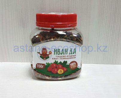 Плодово-ягодный взвар (чай из сушеных ягод) с боярышником — 150 г