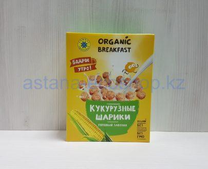 Готовый завтрак 'Кукурузные шарики' (кукуруза, пшеница, лен) , 'Бодрое утро' (веган) — 100 г