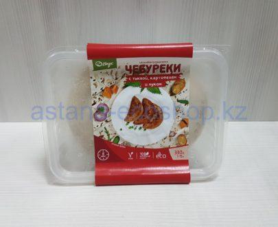 Замороженные чебуреки с тыквой, картофелем и луком, ручная лепка (веган) — 330 г