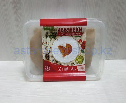 Замороженные чебуреки с тофу и помидорами, ручная лепка (веган) — 330 г