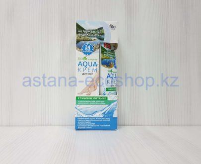 Аква-крем для ног 'Глубокое питание' с водой Камчатки (масло авокада, овсяное молочко, алоэ вера) — 45 мл