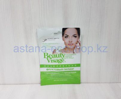 Тканевая маска для лица 'Мицеллярная' фруктовый пилинг, для всех типов кожи (альфа-гидрокислоты, алоэ вера, хитозан) — 25 мл