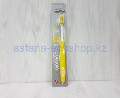 Зубная щетка с ионами серебра (2024 щетинки), желтая, средняя жесткость