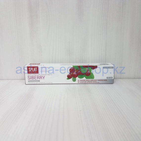 Зубная паста укрепляющая 'Siberry' (брусника, можжевельник, облепиха, клюква) — 75 мл