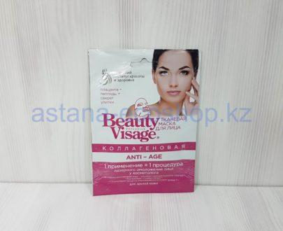Тканевая маска для лица 'Коллагеновая', ANTI-AGE разглаживание, для зрелой кожи (плацента, пептиды, секрет улитки) — 25 мл