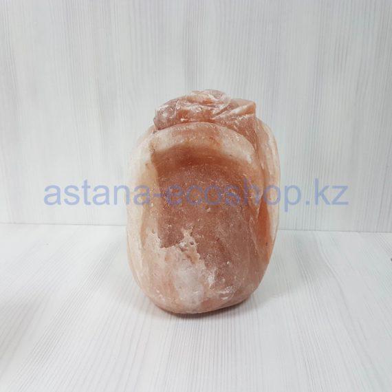Солевая лампа 'Роза' (с электрическим шнуром и лампочкой), 2-3 кг (22,5x13x13 см)
