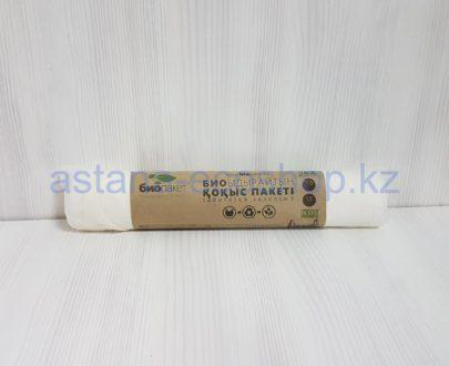 Биоразлагаемый мусорный пакет (биопакет) из растительных полимеров (30 л) — 15 шт