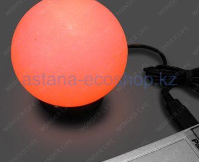 USB-лампа из гималайской соли (автосмена цвета) — 0,4 кг (11,5x10x10 см)