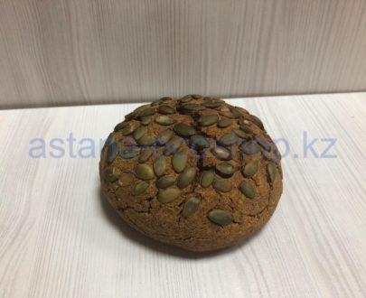 Хлеб 'Очищающий', бездрожжевой, безглютеновый (гречка, лен, тыква, мускатный орех)