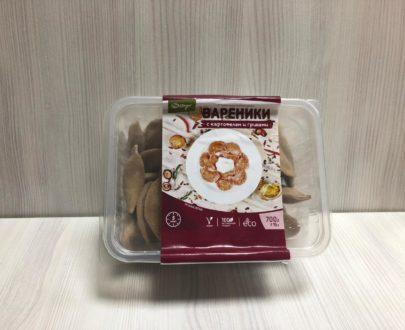 Замороженные вареники с картофелем и грибами, ручная лепка (веган) — 700 г