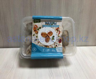 Замороженные манты с тыквой и картофелем (веган), ручная лепка — 715 г
