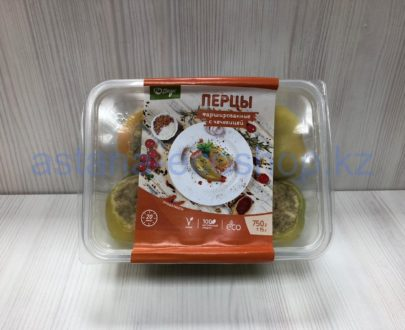Замороженные перцы фаршированные с чечевицей (веган), ручная лепка — 750 г