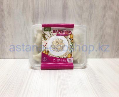 Замороженные вареники с картофелем (веган), ручная лепка (без глютена) — 400 г