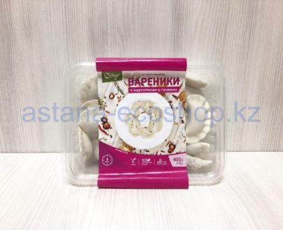 Замороженные вареники с картофелем и грибами (веган), ручная лепка (без глютена) — 400 г