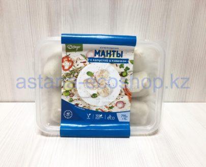Замороженные манты с капустой и кабачком (веган), ручная лепка (без глютена) — 715 г