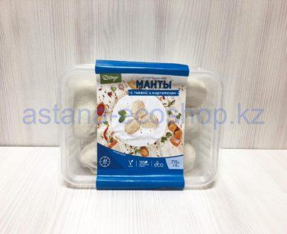 Замороженные манты с тыквой и картофелем (веган), ручная лепка (без глютена) — 715 г