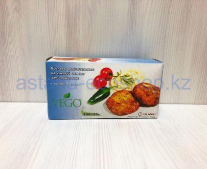 Котлеты растительные на соевой основе, замороженные (с ароматом рыбы) — 400 г