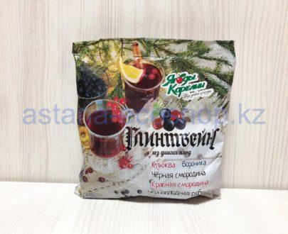 Глинтвейн из диких ягод (черная смородина, клюква, вороника, красная смородина, черноплодная рябина), замороженная — 300 г