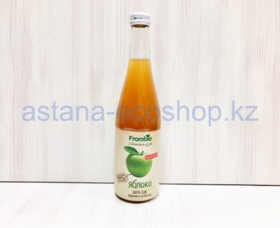 Сок яблочный, прямой отжим (без сахара) — 510 мл