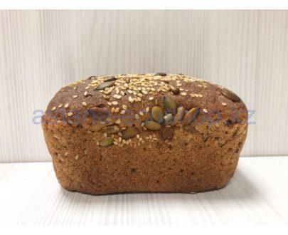 Хлеб ржаной, формовой (мука ржаная, мука пшеничная 1 сорт, закваска, кунжут, подсолнух, тыква)
