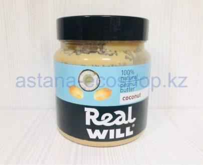 Арахисовая паста с кокосом (без сахара) — 500 г