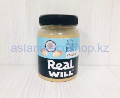 Арахисовая паста с кокосом (без сахара) — 330 г