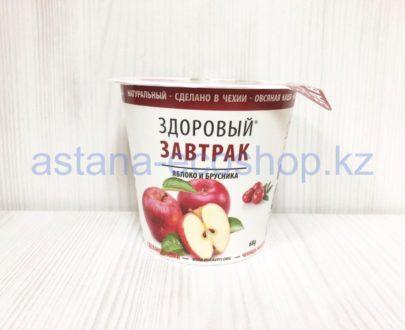 Каша овсяная 'Здоровый завтрак', яблоко и брусника (без глютена, веган, без лактозы) — 68 г