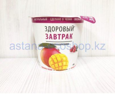 Каша овсяная 'Здоровый завтрак', манго и брусника (без глютена, веган, без лактозы) — 68 г