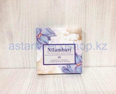 Белый авторский шоколад 'Nilambari' на кокосе с чаем матча и мятой — 65 г