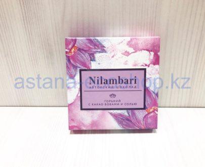 Горький авторский шоколад 'Nilambari' с какао бобами и солью — 65 г