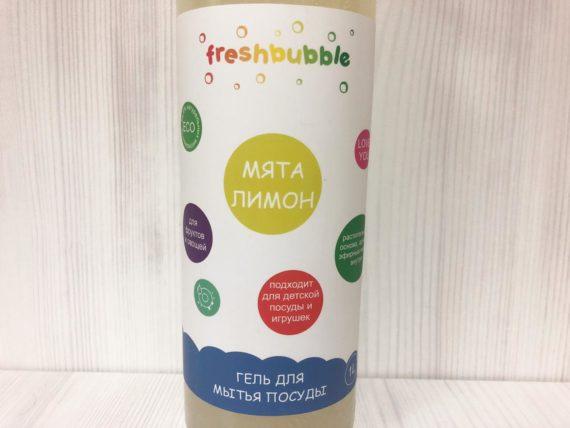 Гель для мытья посуды FreshBubble (мята, лимон) — 1 л