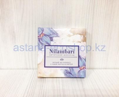 Авторский шоколад белый, на с чаем матча и мятой — 65 г