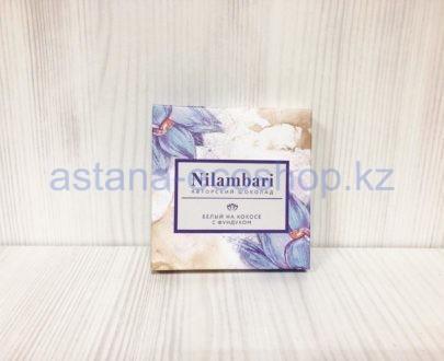 Авторский шоколад белый, на кокосе с фундуком — 65 г