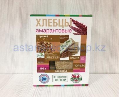 Хлебцы амарантовые с гречей (без глютена) — 195 г