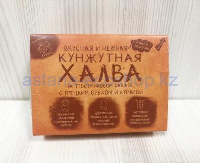 Кунжутная халва с грецким орехом и курагой (тростниковый сахар) — 290 г