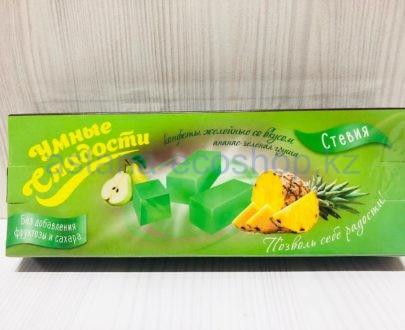 Желейные конфеты 'Ананас Зеленая груша' (без сахара, без глютена) — 90 г