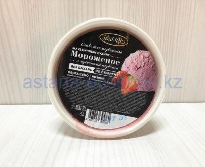 Мороженое сливочное клубничное (без сахара) — 120 г