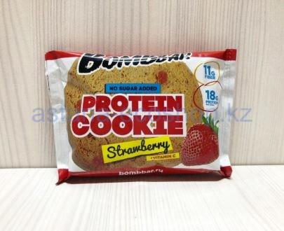Печенье BombBar протеиновое, клубника (без сахара) — 40 г